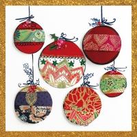 Napkins 33x33 cm - Christmas Ornaments Napkin 33x33