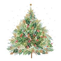 Servietten 33x33 cm - Christmas Hill Tree Napkin 33x33