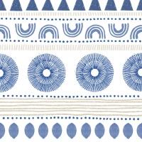 Serviettes 33x33 cm - Ethno Style blue Napkin 33x33