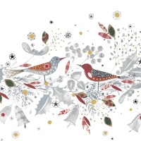 Servietten 33x33 cm - Christmas Birds Napkin 33x33