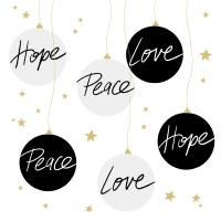 Serviettes 33x33 cm - Hope & Peace Napkin 33x33