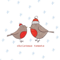 Napkins 33x33 cm - Christmas Tweets Napkin 33x33