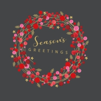 Servietten 33x33 cm - Seasons Greetings grey Napkin 33x33