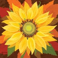 Servilletas 33x33 cm - October Sunflower Napkin 33x33