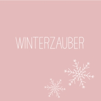 Napkins 33x33 cm - Winterzauber rosé Napkin 33x33