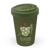 Taza de bambú para llevar - Tea Time