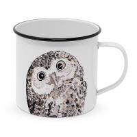 Metalowy puchar - Owl Happy Metal Mug