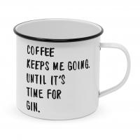 Metalowy puchar - Coffee & Gin Happy Metal Mug