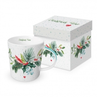 Porcelain cup with handle - Christmas Time
