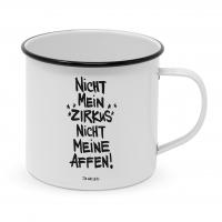Metalowy puchar - Nicht meine Affen Happy Metal Mug