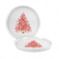 Porcelain plate 21cm - Seasons Tree Trend Plate 21