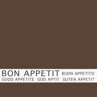30 napkins 33x33 cm - Bon Appetit braun