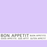 30 napkins 33x33 cm - Bon Appetit lila