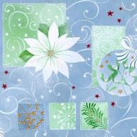 20 servilletas 33x33 cm - White Poinsettia