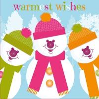 20 napkins 33x33 cm - Three Snowmen