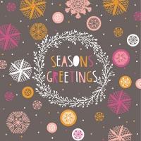 20 napkins 33x33 cm - Seasons Greetings grau