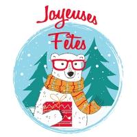 20 napkins 33x33 cm - Ours Joyeuses Fetes