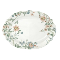 Porcelain plate - Zen white
