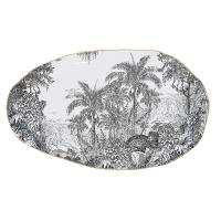 Placa de porcelana de 36 cm. - Rain Forest
