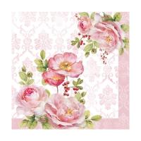 Serviettes 33x33 cm - Floral Damask