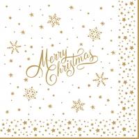 Serviettes 33x33 cm - Golden Christmas
