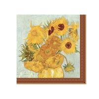 Serviettes 33x33 cm - Vase with twelve sunflowers
