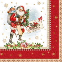 Napkins 33x33 cm - VINTAGE CHRISTMAS