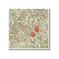 Napkins 33x33 cm - William Morris green