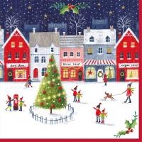 Napkins 33x33 cm - Christmas Village