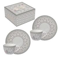 Tasse en porcelaine - Kalamkari gray