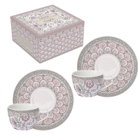 Tasse en porcelaine - Kalamkari pink