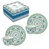Tasse en porcelaine - Medterraneo blue