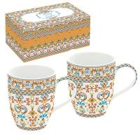 Porcelain Cup - Mediterraneo orange