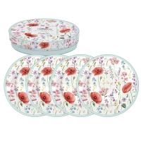 Assiette en porcelaine 19cm - Les Coquelicots