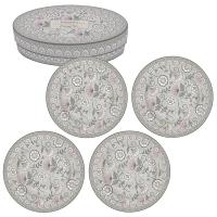 Assiette en porcelaine 19cm - Kalamkari gray