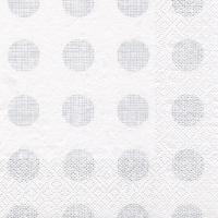Servietten 24x24 cm - Melissa silver/pearlwhite