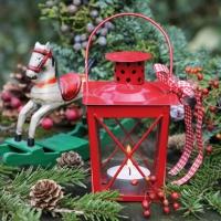 Servietten 33x33 cm - Red Lantern & Rocking Horse