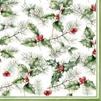 Servietten 33x33 cm - Holly & Mistletoe