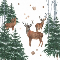 Napkins 33x33 cm - En Forêt dHiver