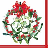 Servilletas 33x33 cm - Mistletoe Wreath