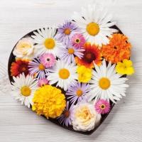 Serviettes 33x33 cm - Flores de Corazon