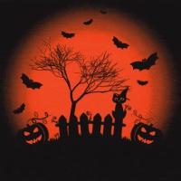 Serviettes 33x33 cm - Happy Halloween Trick