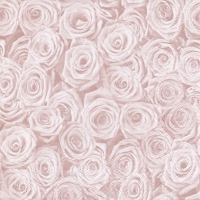 Napkins 33x33 cm - Beaucoup de Roses shiny rosé