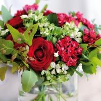 Napkins 33x33 cm - Red Bouquet