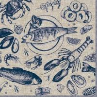 Napkins 33x33 cm - Delicious Seafood