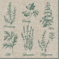 Napkins 33x33 cm - Fragrant Herbs