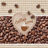Napkins 33x33 cm - Coffee Love