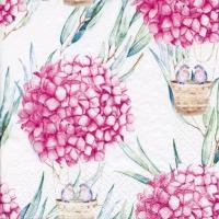 Serviettes 33x33 cm - Hydrangea Balloons pink