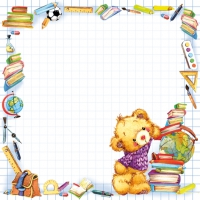 Serwetki 33x33 cm - Cute Back to School