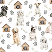Servilletas 33x33 cm - Pet Dogs